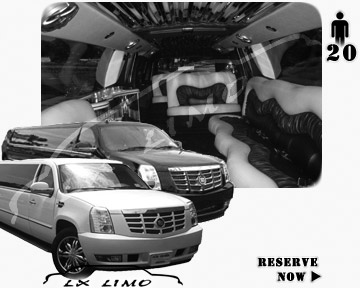 Cadillac Escalade 20 passenger SUV Limousine for rental in Fort Myers, FL