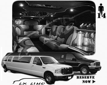 Lincoln Excursion SUV Limo for hire in Fort Myers, FL